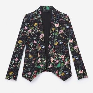The Kooples Fluid Botanic Floral Blazer Jacket